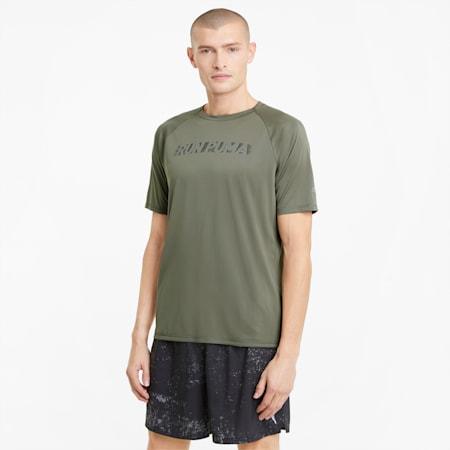 Męski T-shirt do biegania z krótkim rękawem COOLadapt, Vetiver, small