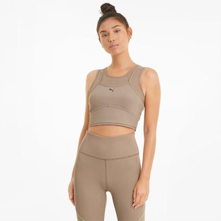 Top de entrenamiento con corte por encima de la cintura y capas Studio para mujer, Amphora, small