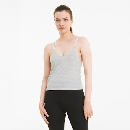 Studio Graphene Strappy Women's Training Tank Top, Eggnog, small