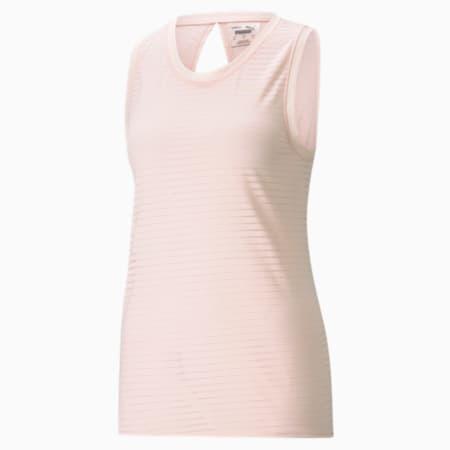 Studio Burnout Damen Trainings-Tank-Top, Cloud Pink-burn out print, small
