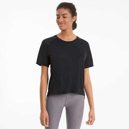 Damski grafenowy T-shirt treningowy o luźnym kroju Studio, Puma Black, small