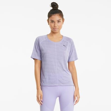 Studio Graphene Relaxed Fit Damen Trainings-T-Shirt, Light Lavender, small