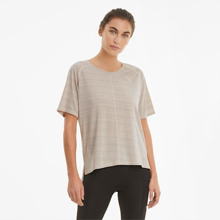 Studio Graphene Relaxed Fit Women's Training Tee, Cloud Pink, small