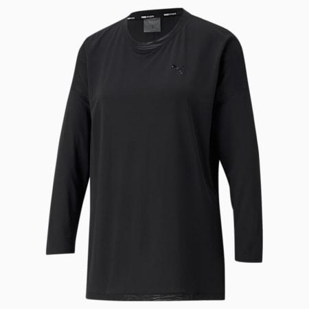 Studio Graphene Long Sleeve Women's Training Top, Puma Black, small