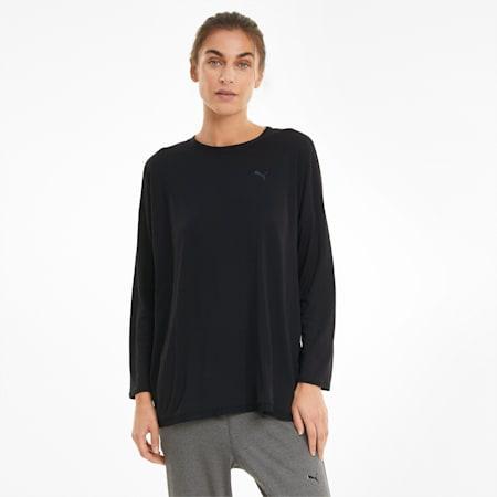 Studio Graphene Damen Langarm-Trainings-Shirt, Puma Black, small