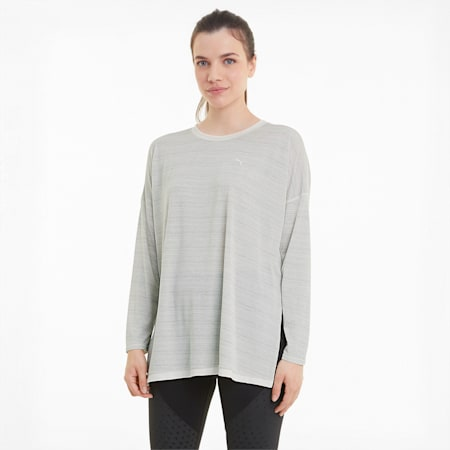 Studio Graphene Damen Langarm-Trainings-Shirt, Eggnog, small