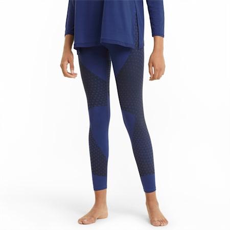 Studio Porcelain Full-Length Women's Training Leggings, Elektro Blue-print, small-IND