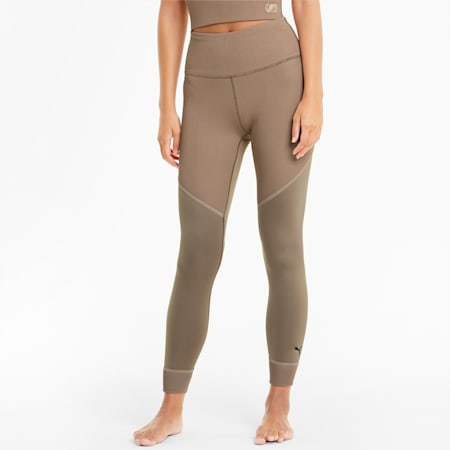 Studio Ribbed High Waist 7/8 Damen Trainingsleggings, Amphora, small
