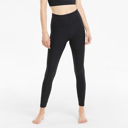 Mallas de entrenamiento de cintura alta Studio Yogini Luxe 7/8 para mujer, Puma Black, small