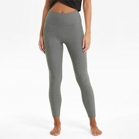 Studio Yogini Luxe High Waist 7/8 Women's Training Tights, Medium Gray Heather, small-IND