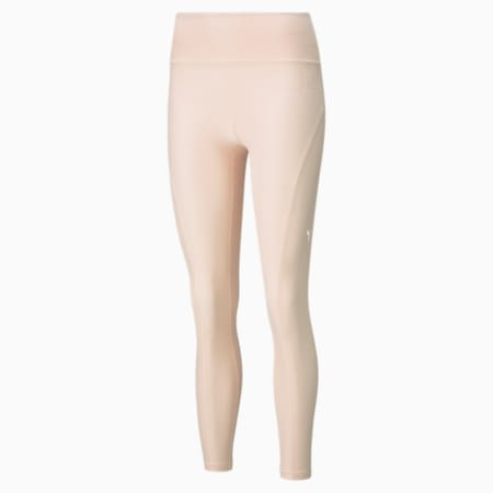 Studio Yogini Luxe High Waist 7/8 Women's Training Tights, Cloud Pink Heather, small-IND