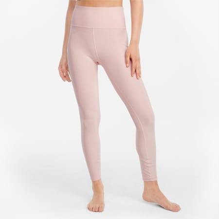 Mallas de entrenamiento de cintura alta Studio Yogini Luxe 7/8 para mujer, Lotus Heather, small