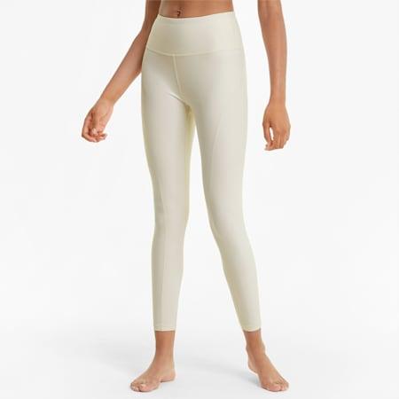 Mallas de entrenamiento de cintura alta Studio Yogini Luxe 7/8 para mujer, Eggnog Heather, small