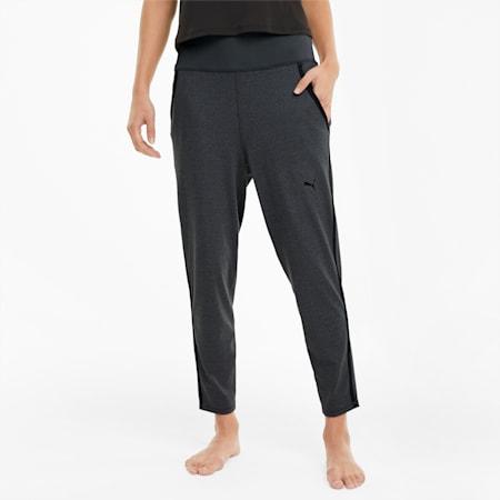 Damskie spodnie treningowe Studio z prążkowanym pasem, Charcoal Gray Heather, small