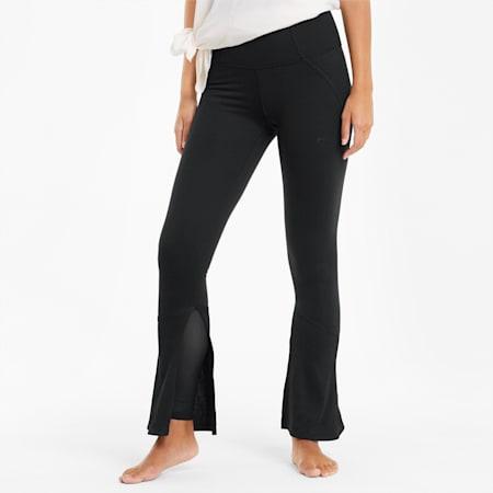 Studio Knit Flare Women's Training Pants, Puma Black, small-IND
