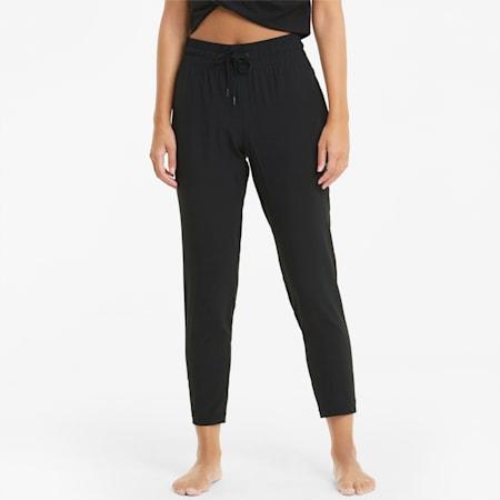 Studio Woven Tapered Women's Training Slim Pants, Puma Black, small-IND