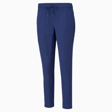Studio Woven Tapered Women's Training Slim Pants, Elektro Blue, small-IND
