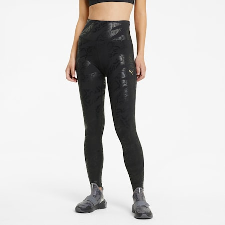Legging de sport 7/8 imprimé UNTMD femme, Puma Black-print, small