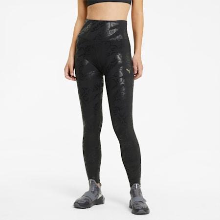 Untamed Women's AOP 7/8 Training Leggings, Puma Black-print, small