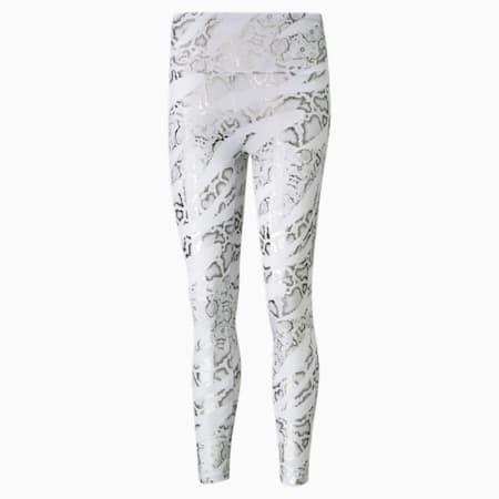 Untamed Printed 7/8 Women's Training Leggings, Puma White-CASTLEROCK-print, small-IND
