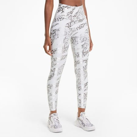 UNTMD Printed 7/8 Women's Training Leggings, Puma White-CASTLEROCK-print, small