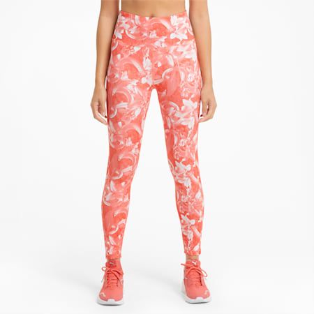 UNTMD Printed 7/8 Women's Training Leggings, Georgia Peach-floral print, small