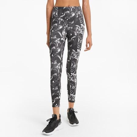 Legging de sport 7/8 imprimé UNTMD femme, Puma Black-floral print, small