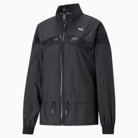 Untamed Woven Women's Training Relaxed Jacket, Puma Black, small-IND