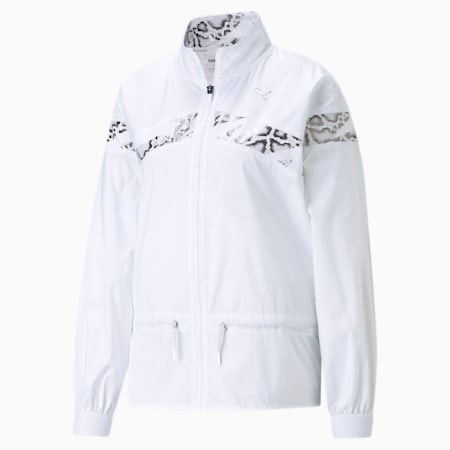 Untamed Woven Women's Training Relaxed Jacket, Puma White, small-IND
