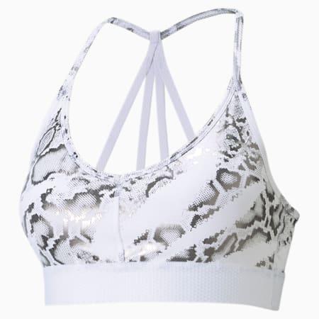 Untamed Low Impact Women's Training Bra, Puma White-CASTLEROCK-print, small-IND