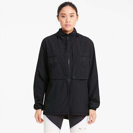 PUMA x FIRST MILE Woven Women's Training Jacket, Puma Black, small
