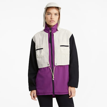 PUMA x FIRST MILE Woven Women's Training Jacket, Byzantium-multi, small