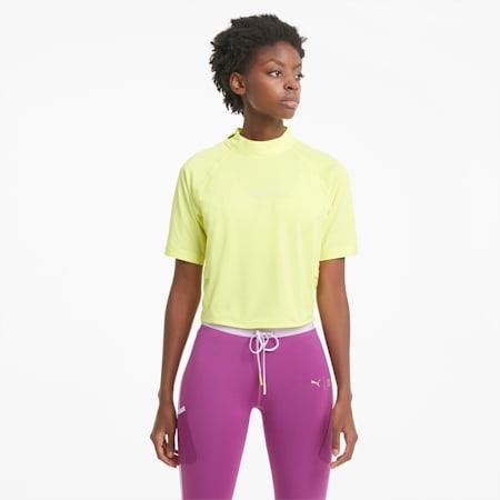 T-shirt da allenamento con girocollo PUMA x FIRST MILE donna, SOFT FLUO YELLOW, small