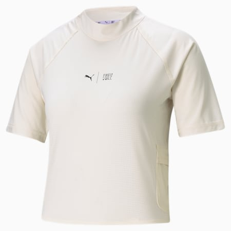 PUMA x FIRST MILE Mock Women's Training  T-shirt, Eggnog, small-IND
