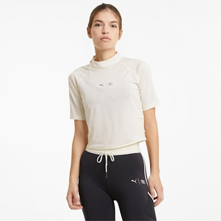 T-shirt de sport à col montant PUMAxFIRST MILE femme, Eggnog, small