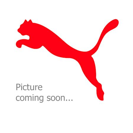 PUMA x FIRST MILE Women's Mid Impact Padded Bra, Sunblaze-Puma Black, small