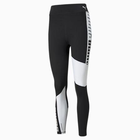 Damskie legginsy treningowe z wysokim stanem 7/8 Favourite Logo, Puma Black-Puma White, small