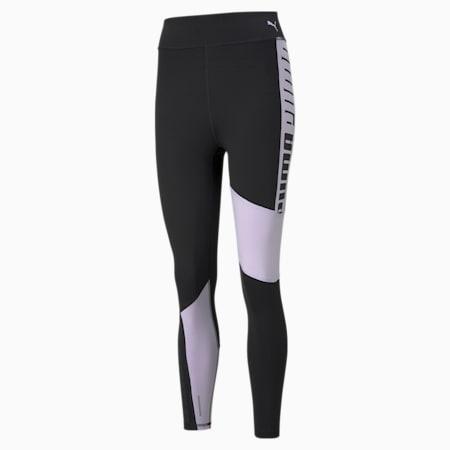 Mallas de entrenamiento de cintura alta y largo 7/8 con logotipo para mujer Favourite, Puma Black-Light Lavender, small