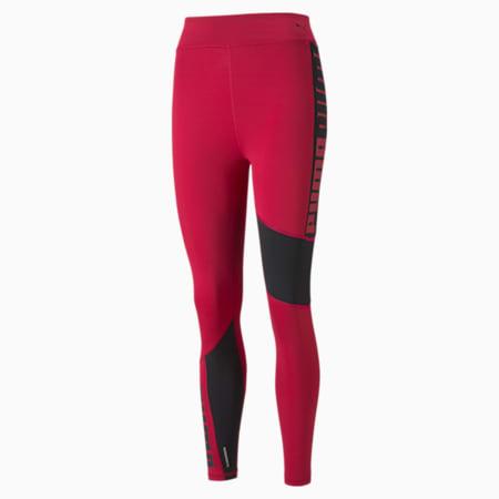 Favourite Logo High Waist 7/8 Women's Training Leggings, Persian Red-Puma Black, small-GBR