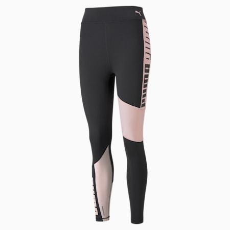 Favourite Logo High Waist 7/8 Women's Training Leggings, Puma Black-Lotus, small-GBR
