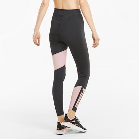 Damskie legginsy treningowe z wysokim stanem 7/8 Favourite Logo, Puma Black-Lotus, small