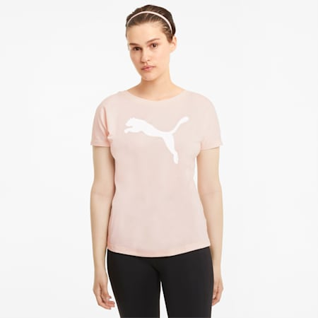 Favourite Cat Jersey Women's Training Tee, Cloud Pink, small