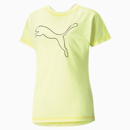 Favourite Cat Jersey Women's Training  Relaxed T-Shirt, SOFT FLUO YELLOW, small-IND