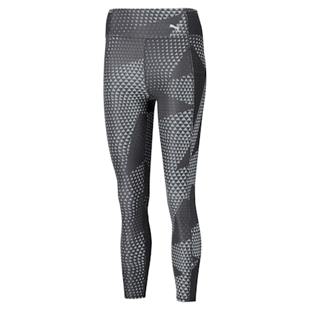 Favourite Printed High Waist 7/8 Women's Training Tights, Puma Black-AOP, small-IND