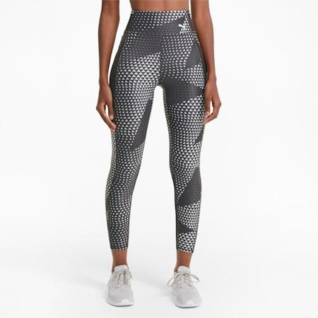 Mallas de entrenamiento estampadas de cintura alta Favourite 7/8 para mujer, Puma Black-AOP, small