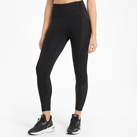 Flawless 7/8 Women's Training Leggings, Puma Black, small-GBR