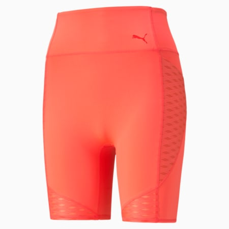 "Flawless 7"" Women's Training Slim Shorts, Sunblaze, small-IND"