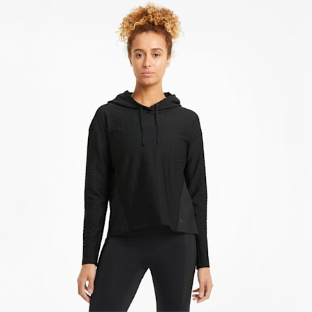 Flawless Women's Pullover Training Hoodie, Puma Black, small
