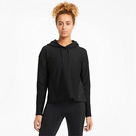 Flawless Women's Training Hoodie, Puma Black, small-GBR
