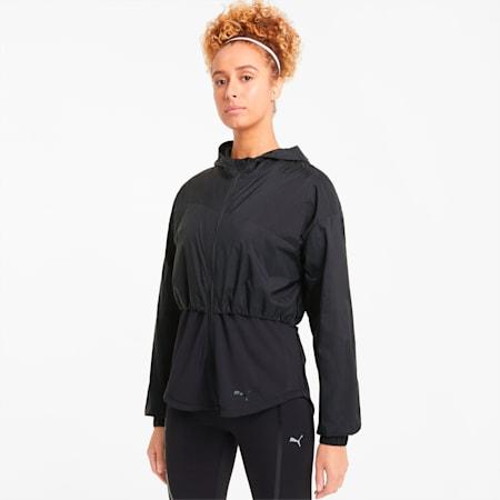 Ultra Women's Hooded Training Jacket, Puma Black, small-GBR